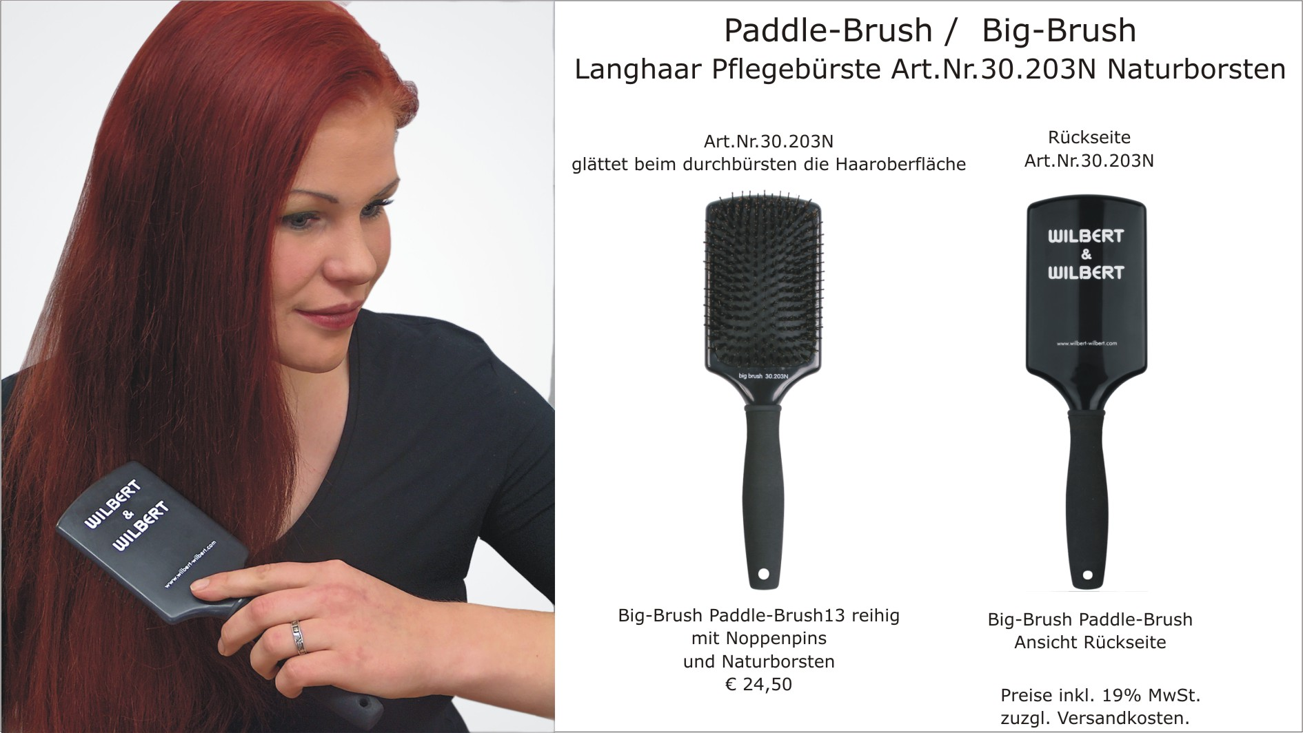 Paddle Brush / Big Brush Natur